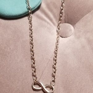 Infinity necklace comes with bag